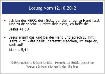 Tageslosung Herrnhut