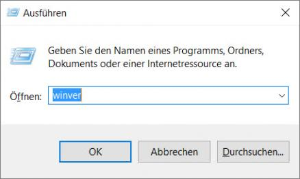 Windows Version ermitteln